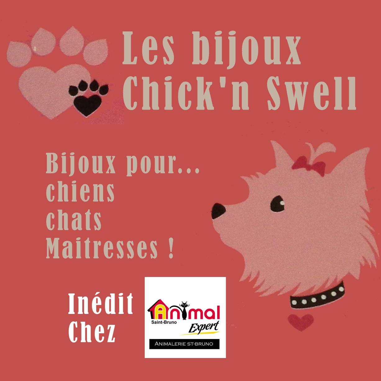bijoux chick' swell chien, chats
