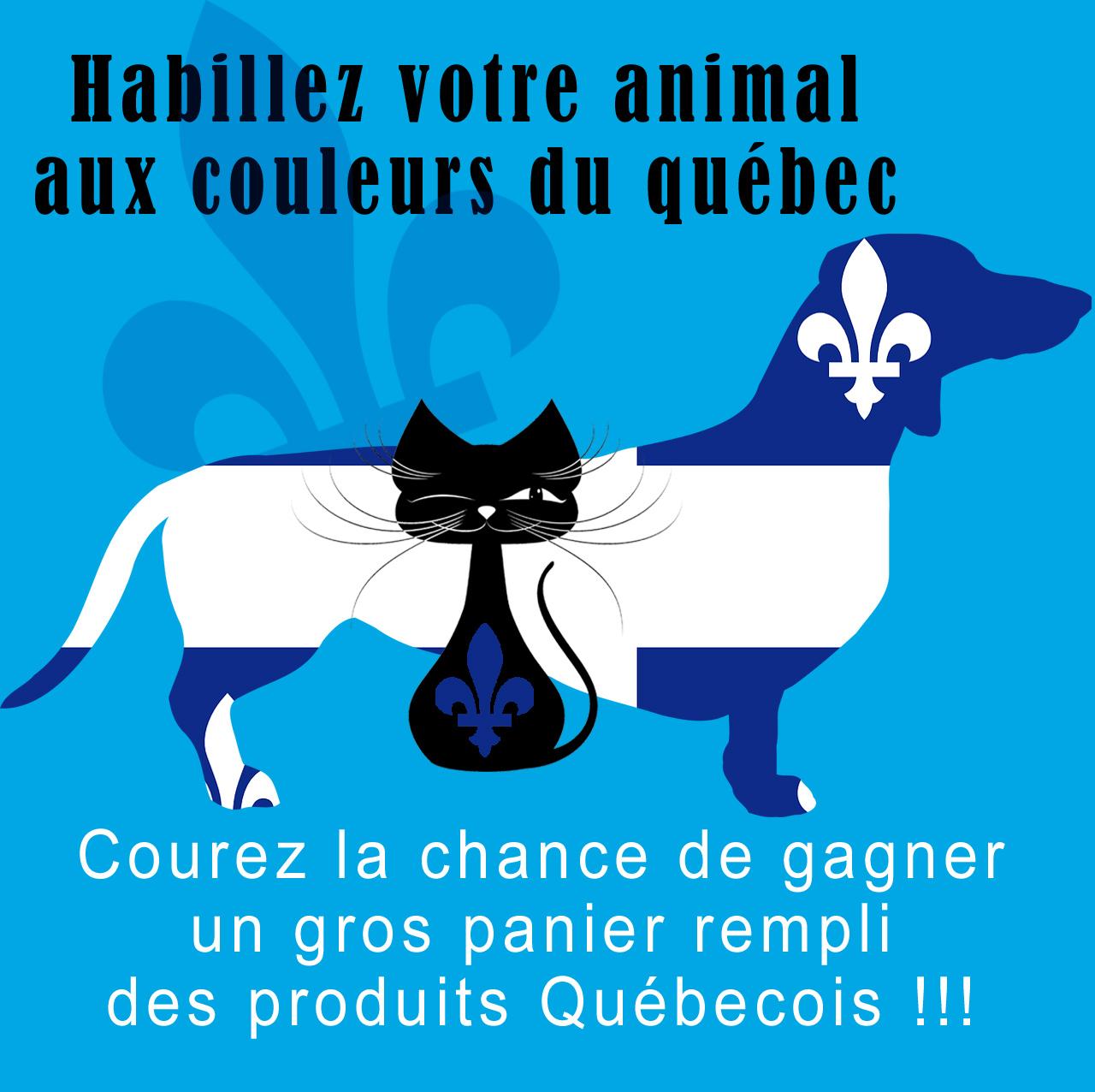 Habillez votre animal aux couleurs du Québec