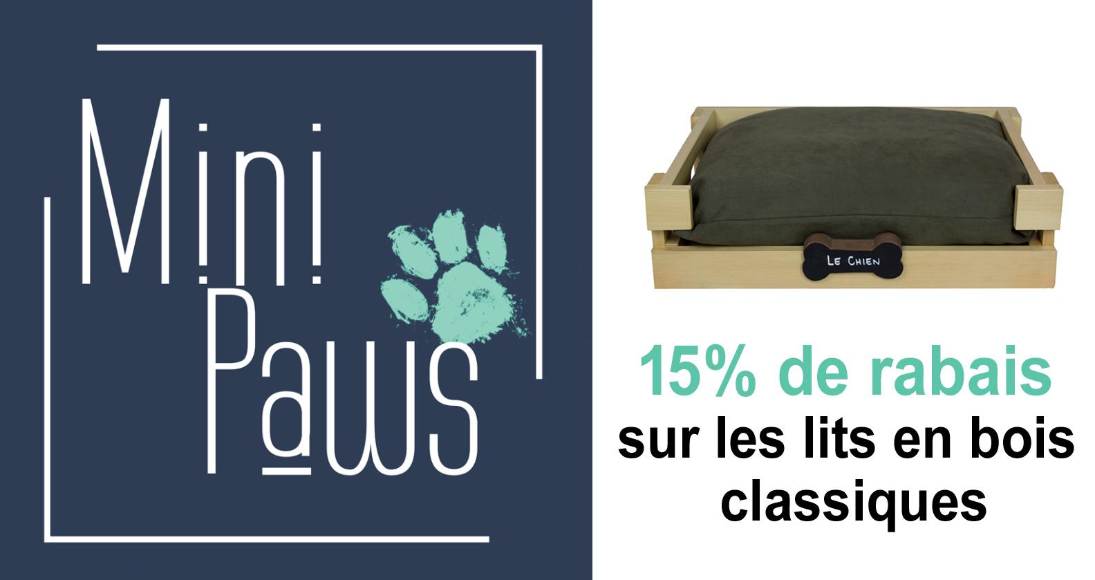 Mini Paws lits pour animaux