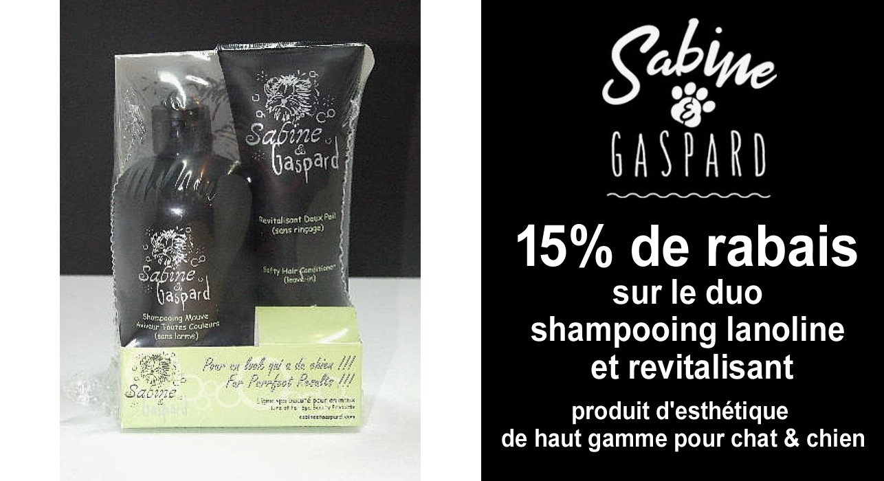 shampooing pour animaux Sabine & Gaspard