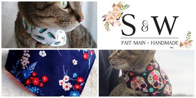 Simone & Watson bandanas pour chats et chiens