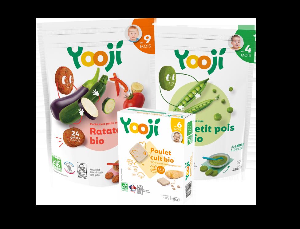 Yooji, les repas bio pour bébé en portions surgelées
