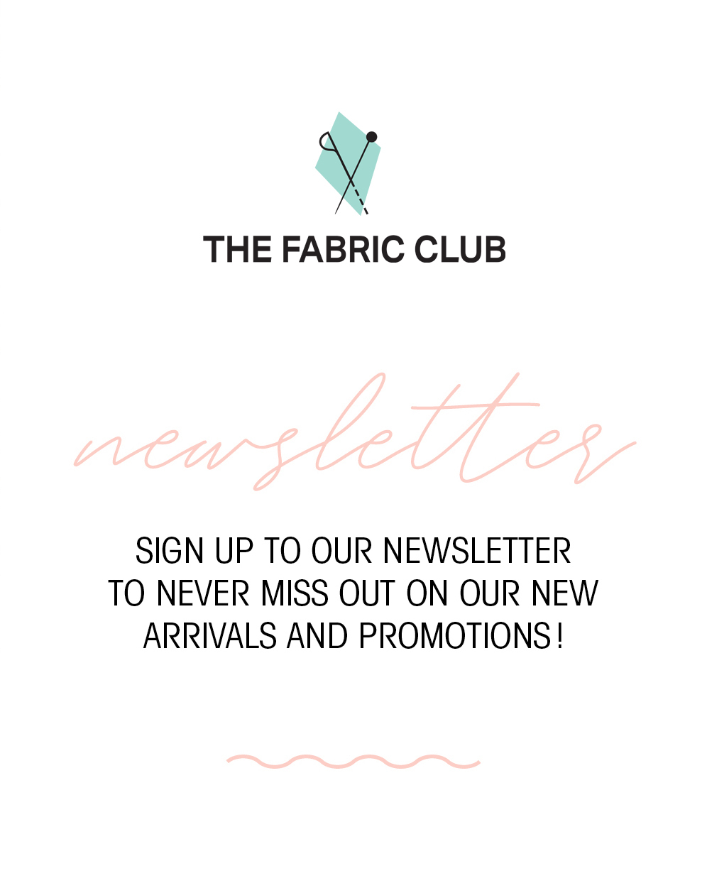Subscribe to Club Tissus's newsletter