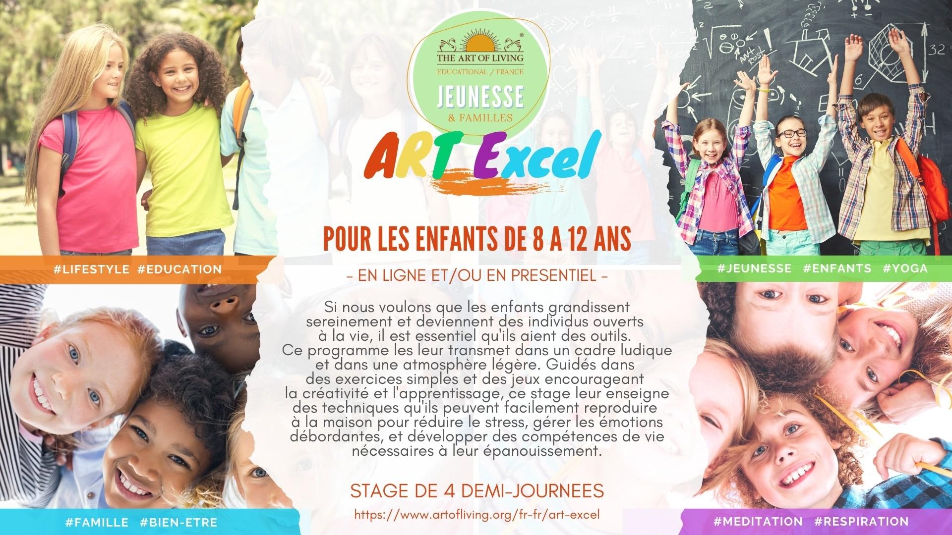 Stage ART Excel pour les enfants de 7 à 12 ans