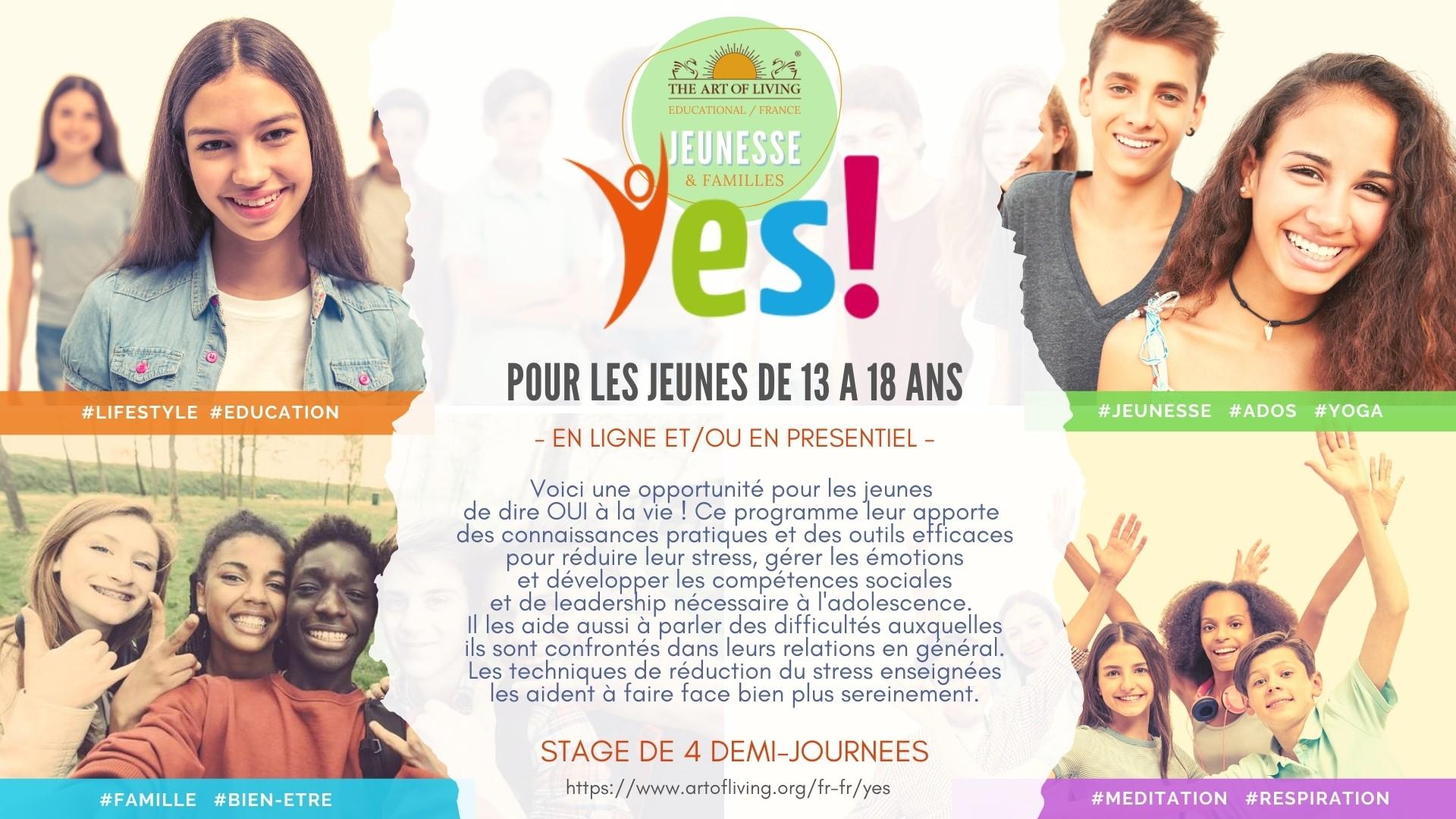 Stage Yes! pour les ados de 13 à 17 ans
